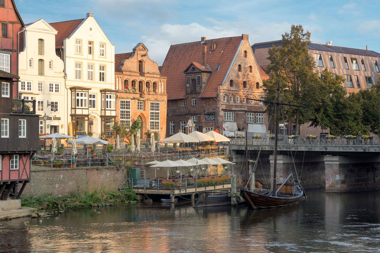 Architecture Building Exterior Built Structure City City Day Germany Hansestadt Lower Saxony Lueneburg Lüneburg Nautical Vessel No People Outdoors Sky Town Transportation Travel Travel Destinations Tree Water Waterfront