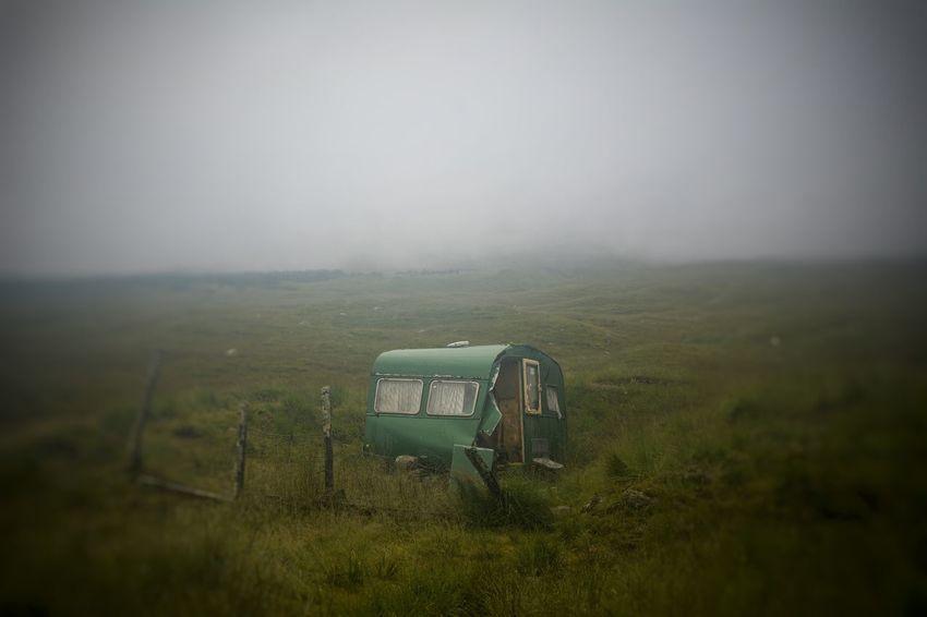 Fog Caravan Caravan Bridge Of Orchy Scotland West Highland Way Summer2016 Green Outdoors Landscape No People Beauty In Nature The Secret Spaces Long Goodbye #FREIHEITBERLIN