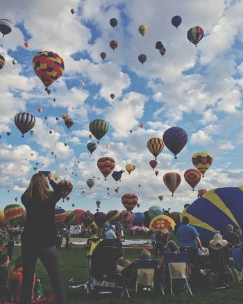 Green Wonderland HotAirABQ15 Igersabq Balloonfiesta  ShotoniPhone6s Newmexico Balloons IPhoneography Albuquerque