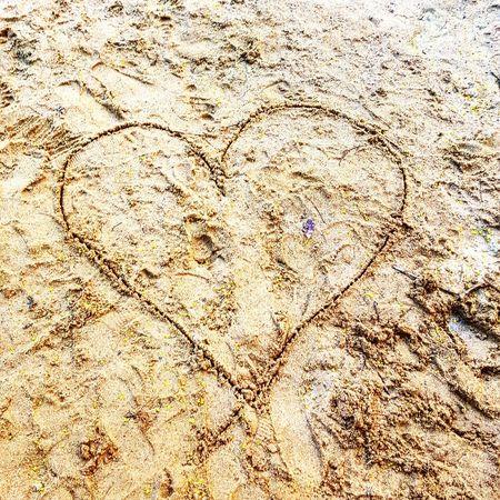 #heart #sand #love #saturday #nature #beautyinnature #beautiful #sandheart Ink Full Frame Pattern Beach Textured  Abstract Close-up Sand Dune