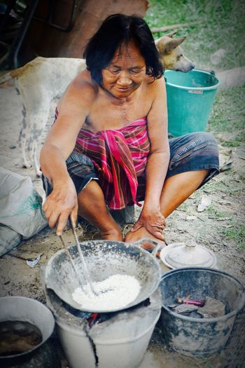Outdoor Kitchen My Mom♥ Farm Life Oldwomen Thailand🇹🇭 Thai Tradition Happy Life ♥ My Mom♥ Farm Life Oldwomen Thailand🇹🇭 Thai Tradition Happy Life ♥ One Person Adult Women Household Equipment Preparing Food Portrait Nature