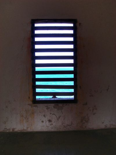 Window Indoors  No People Built Structure Architecture Day San Felipe Del Morro Castle Ocean View Ocean Caribbean