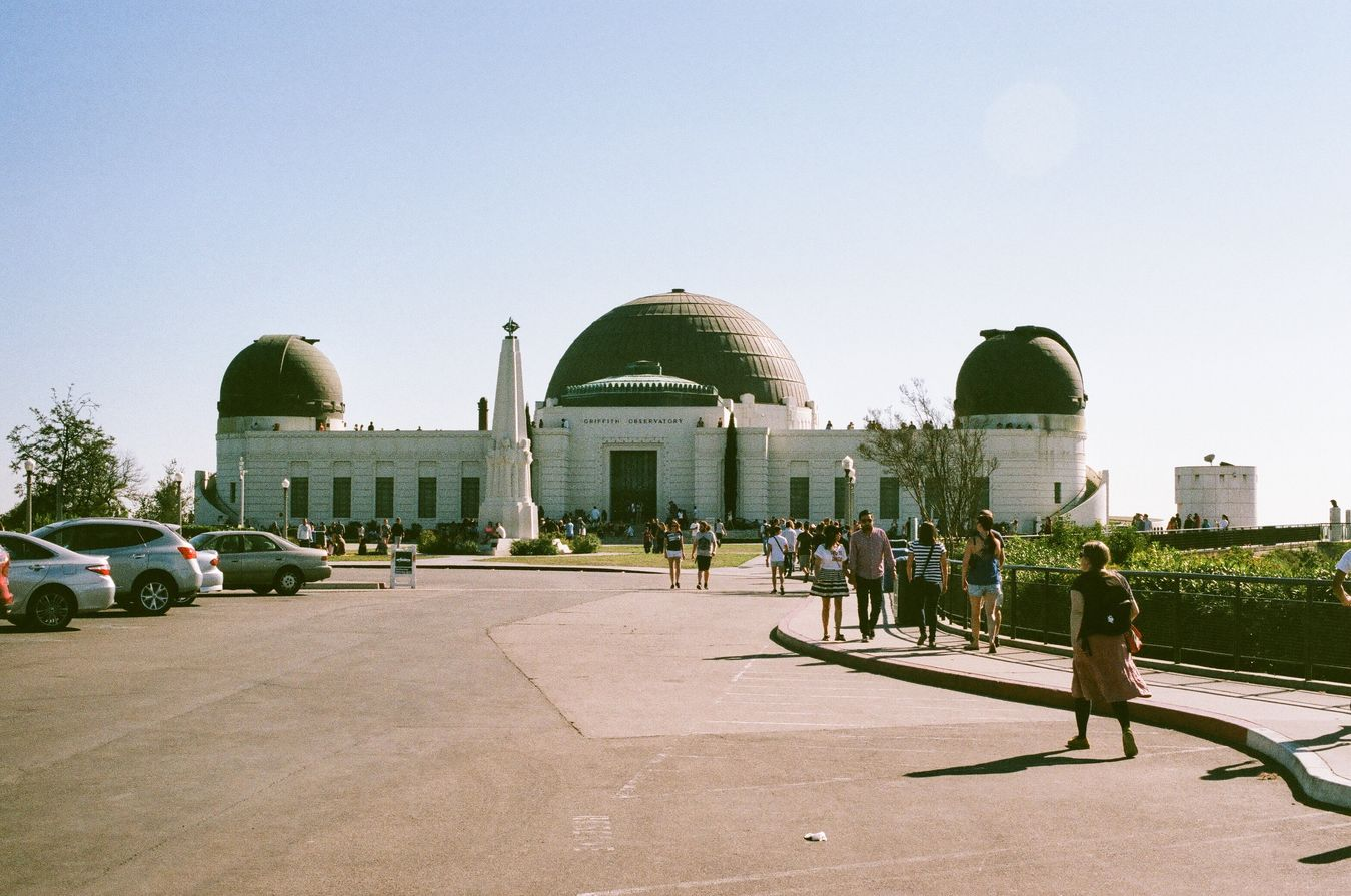 Griffith Observatory, Los Angeles, CA. USA Griffith Park Griffith Observatory Los Ángeles Los Angeles, California Clear Sky Outside Public Places Historical Building Architecture 35mm Film