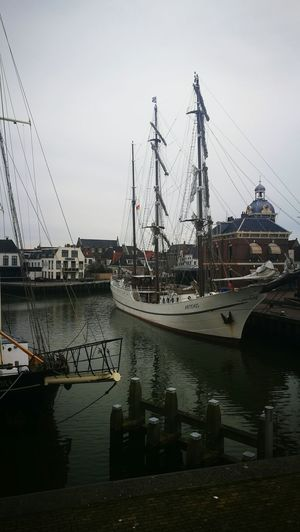 Water Reflection Nautical Vessel Outdoors Netherlands Harlingen, Netherlands Canal Boat