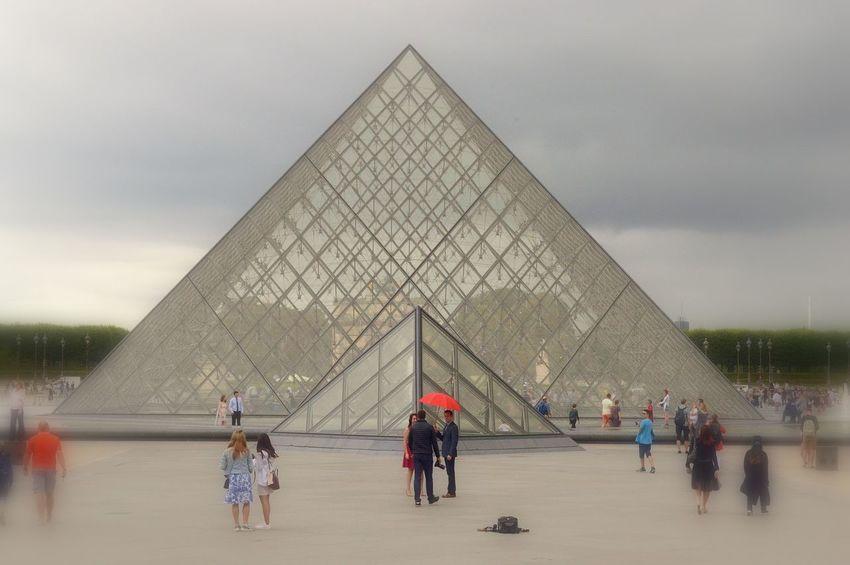 Architecture Famous Place Louvre Museum Louvre Pyramid Paris Paris Will Always Be Paris... Paris, France  Pyramid Tourism Tourist