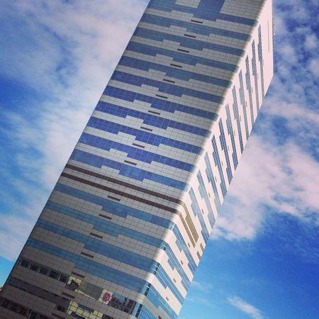Lookingup in Torre Millenium Skyscraper Sabadell Catalonia