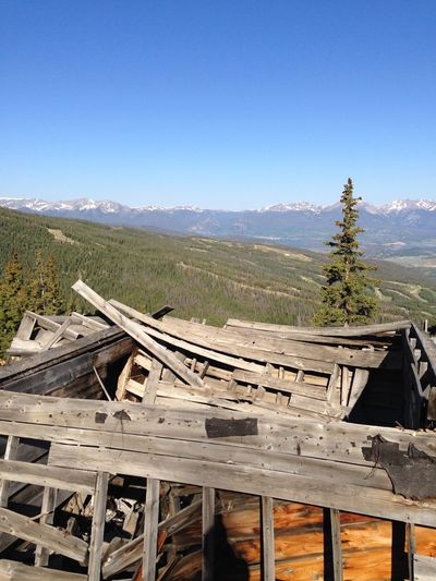 Keystone Wood - Material Chair Mountain No People Landscape Clear Sky Day Outdoors Nature Tree Beauty In Nature Sky Mining Mining Heritage Mining Ruins, Hiking Colorado. Colorado KeystoneSkiResort Keystone, Co Been There.