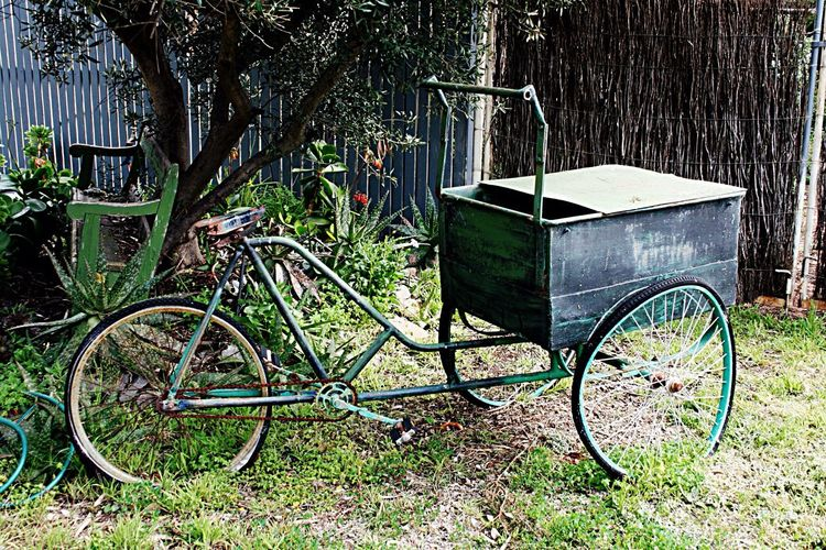 Old cart in garden Old Cart Cottage Garden  Steel Cart