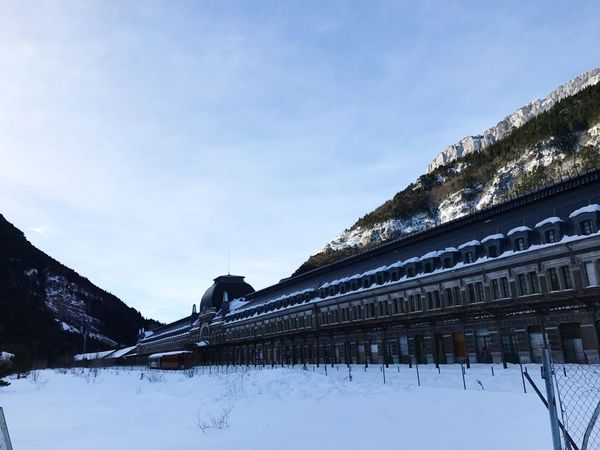Canfrancestacion Old Canfranc Abandoned Station Train Transportation Nature Architecture Built Structure Winter Snow