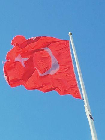 şanlıtürkbayrağı Flag Turk Redwhite Sky