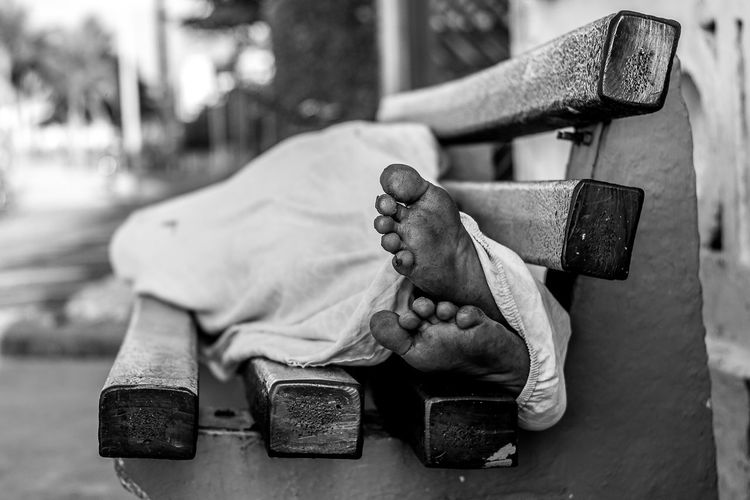 Feet #Brazil #homeless #Poverty #misery Beanch Feet One Person People Real People The Photojournalist - 2017 EyeEm Awards EyeEmNewHere
