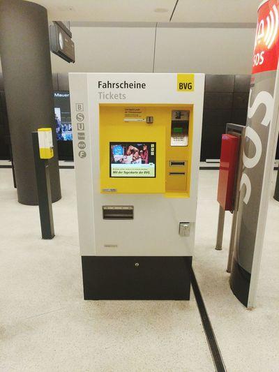 Tickets Vending Machine Subway Transportation Underground Berlin Subway Station