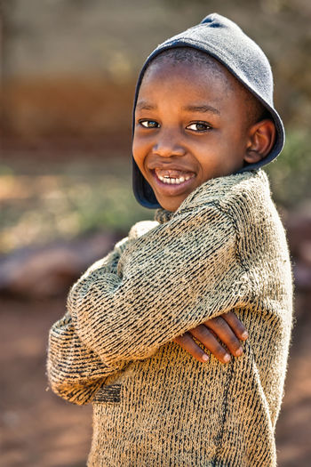 Boys Casual Clothing Cheerful Child Childhood Close-up Cute Day Focus On Foreground Happiness Lifestyles Looking At Camera One Person Outdoors People Portrait Real People Smiling Warm Clothing