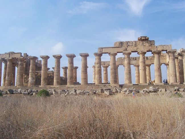 History Old Ruin The Past Ancient Sky Travel Destinations Travel Ancient Civilization Ruined Archaeology Outdoors Ancient History Temple Architecture Templephotography Temple - Building Columns Sicily Parcoarcheologico Selinunte Archaeology Temple Ancient History