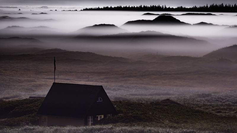 Foggy night in the dunes. Dunes Nightphotography Beauty In Nature Cloud - Sky Day Environment Fog Foggy Idyllic Land Landscape Mountain Mountain Range Nature No People Non-urban Scene Outdoors Remote Scenics - Nature Sky Tranquil Scene Tranquility