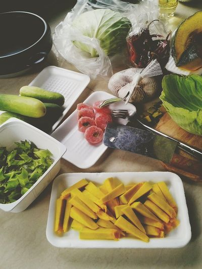 No People Freshness Food Day Indoors  Backgrounds Cooking Ingredients Vegetables Photo