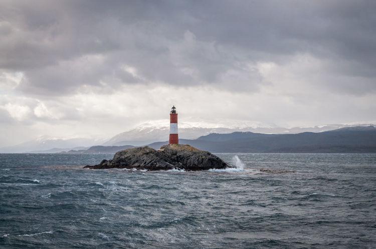 Ushuaia's lighthouse Adventure Beagle Beagle Channel Cloud - Sky Lighthouse Outdoors Patagonia Scenics Sea Sea Life Seascape Tierra Del Fuego Ushuaia Argentina Ushuaïa Wanderlust Waterfront