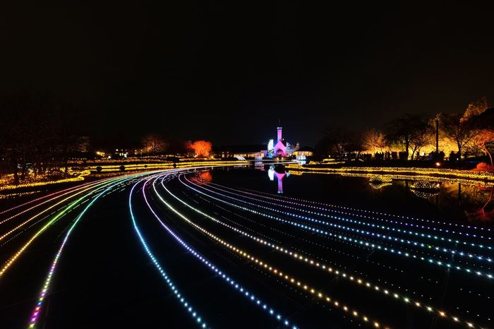 Night Illuminated Light Trail Speed Long Exposure Motion City Architecture No People Outdoors Japan