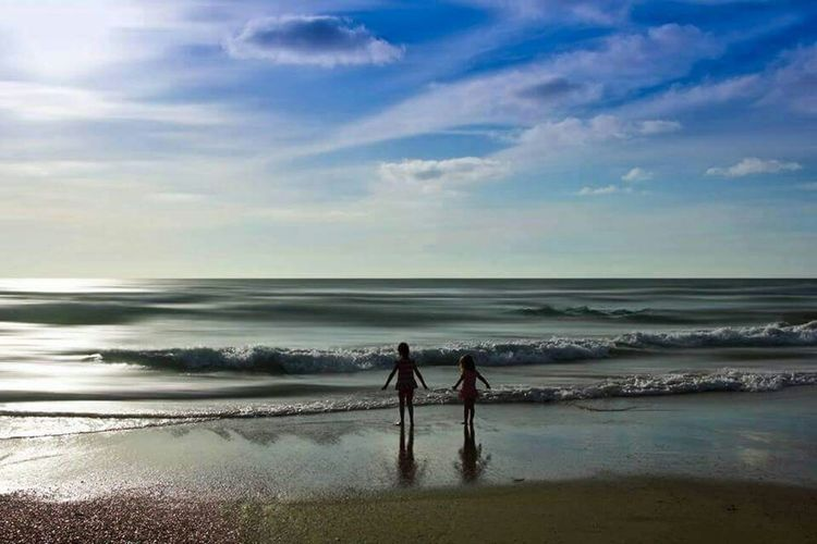 -Together...- Peace And Tranquility Lonelyplanet Amazingly Beautiful Beach Landscape Kids Playing