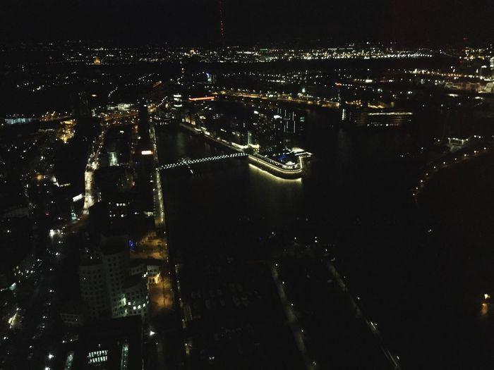 Night Lights Düsseldorf Night Darkness And Light Nightphotography Enjoying The View Cityscapes Overview Tower Perspective Medienhafen Port Rhein River