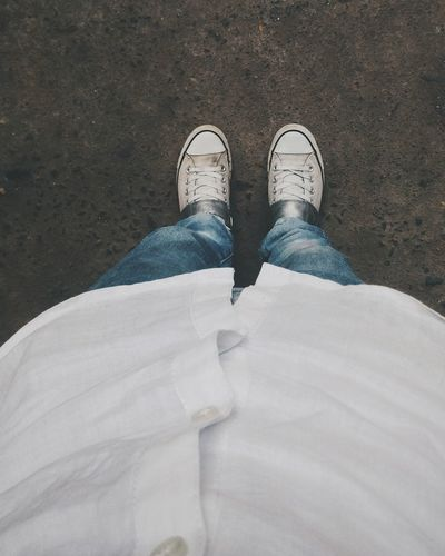 Standing Day One Person Outdoors Low Section Converse Converse All Star Denim Denimjeans Ucb Eyem Best Shots Moody EyeEm Gallery HTC Desire EYE EyeEmshots Htcphotography Myphotolife Pixlesphotography