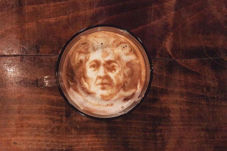 Coffeekesh-My Work Coffeekesh Dadbeh Konjcafe Coffee Cafe Latteart Art ArtWork Portrait Painting Sketch Espresso