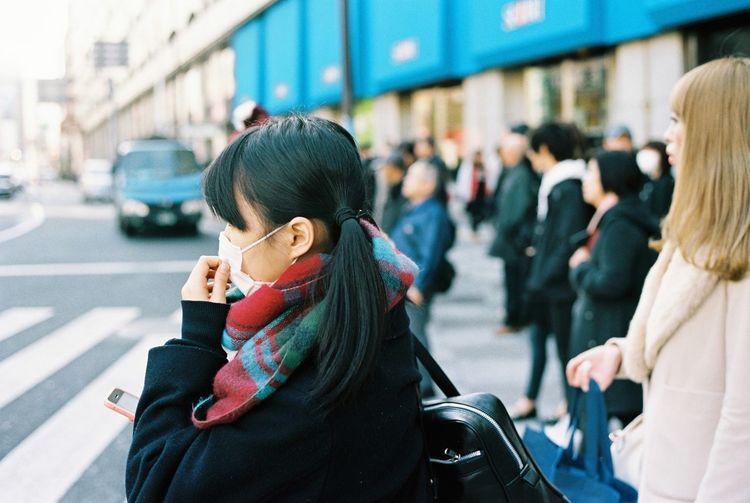 35mm Film Contax G2 Kodak Portra Film Tokyo Streetphotography Everyday Lives SchoolGirl