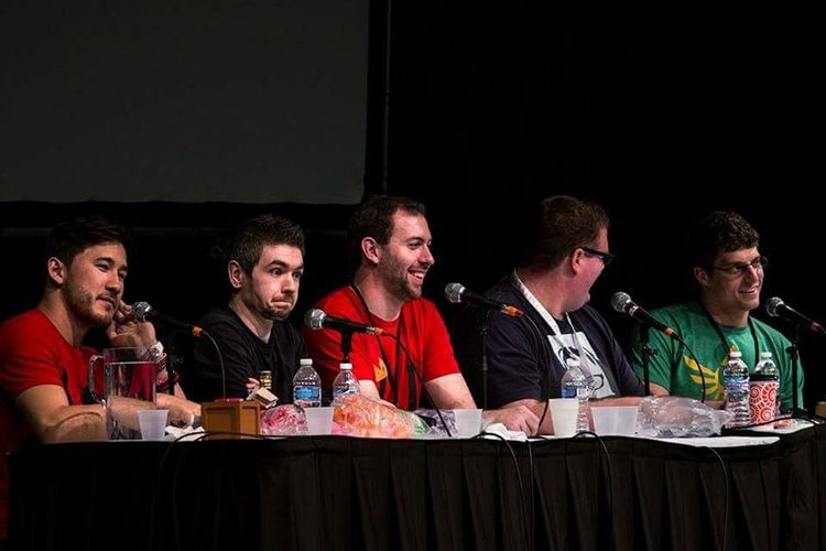 Panel from Saturday did some shooting to get practice at events Indy Popcon Convention Indianapolis  Markplier