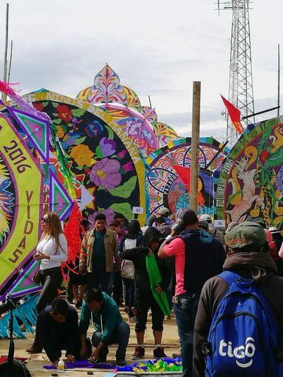 Kites Multi Colored GuatemalaVisitala Sumpango  Annual Event