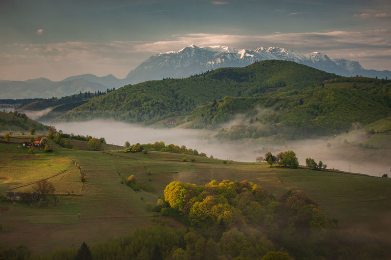 Mountain landscape in the spring season.