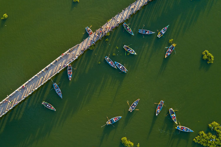 U bein bridge is one of the famous teakwood