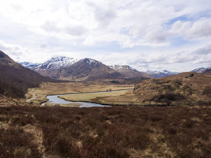 Glen Affric Loch Affric Scotland Walk Beauty In Nature Cloud - Sky Clouds And Sky Day Environment Lake Land Landscape Mountain Mountain Peak Mountain Range Mountains Nature No People Non-urban Scene Outdoors Plant Scenics - Nature Sky Snow Covered Tranquil Scene Tranquility Water Wilderness
