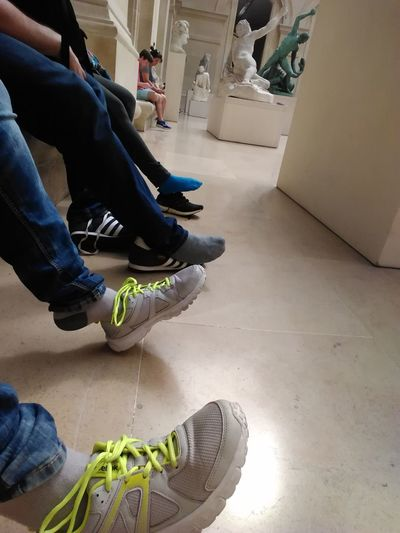 Feet Pain Human Leg Live For The Story Louvre Museum Real People Shoe Sitting Tired Walking All Day Out Of The Box Connected By Travel