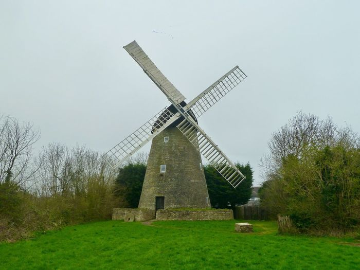 Windmill New Bradwell English Countryside Windmill Wind Power Environmental Conservation Wind Turbine Renewable Energy Alternative Energy Traditional Windmill Fuel And Power Generation Rural Scene Field Architecture Built Structure Grass No People Tree Nature Building Exterior Landscape Sky Outdoors