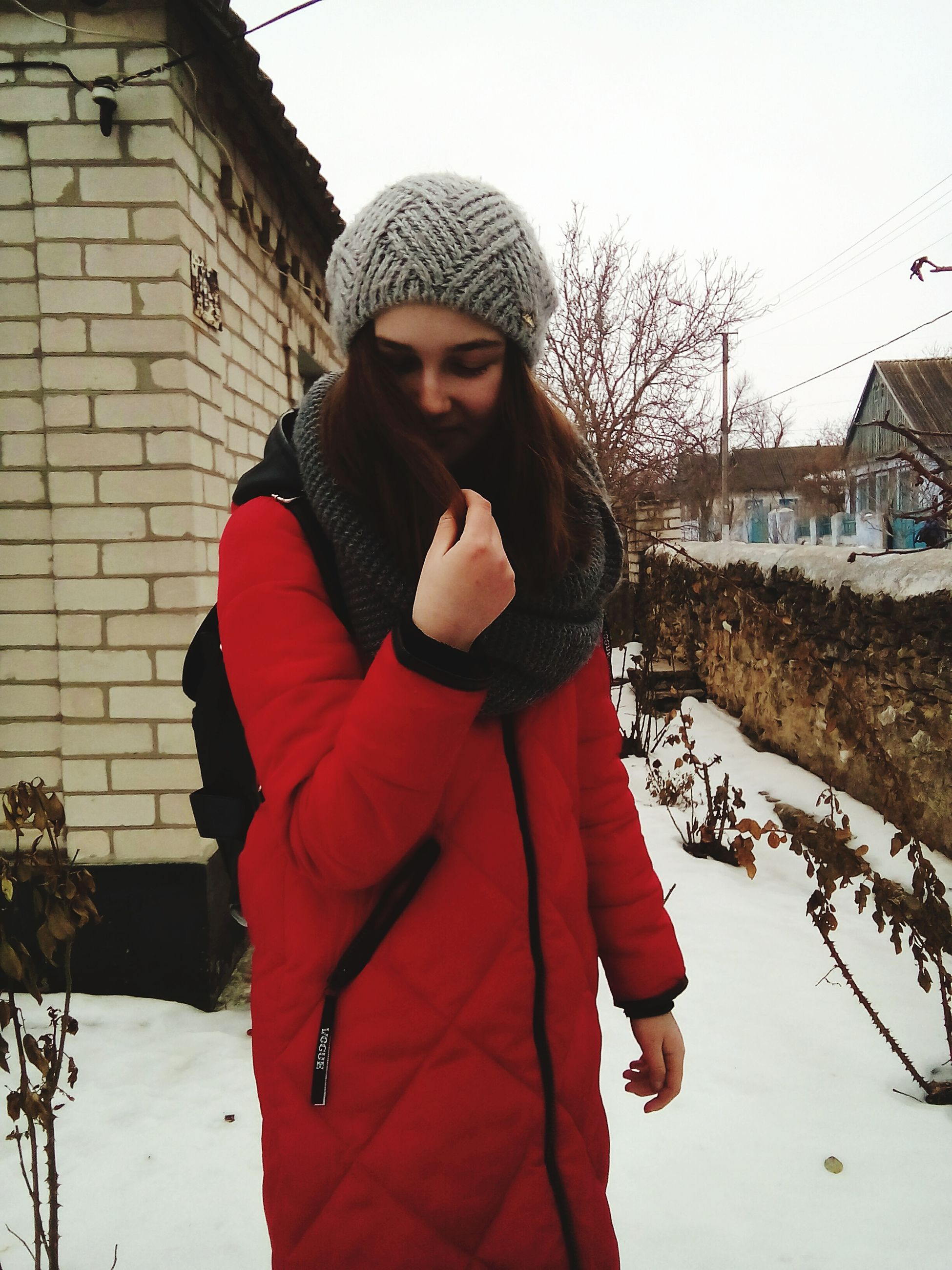 warm clothing, winter, one person, young adult, women, cold temperature, knit hat, outdoors, lifestyles, beautiful people, adult, beautiful woman, beauty, depression - sadness, young women, snow, people, human body part, portrait, nature, day, adults only