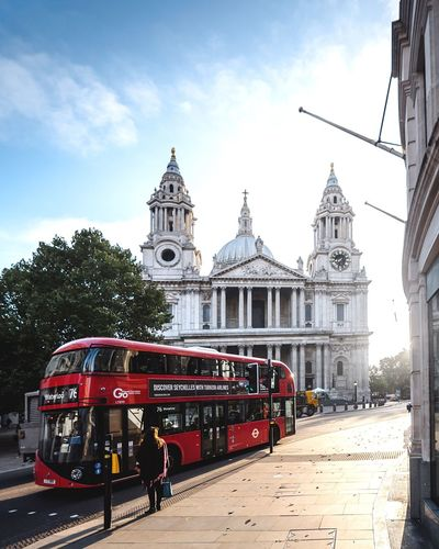 Morning Light / London // St. Paul's Cathedral Architecture Building Exterior Built Structure Sky Day Place Of Worship Outdoors Cloud - Sky Religion Transportation Land Vehicle City Double-decker Bus Tree Bus Routemaster London St Paul's Cathedral