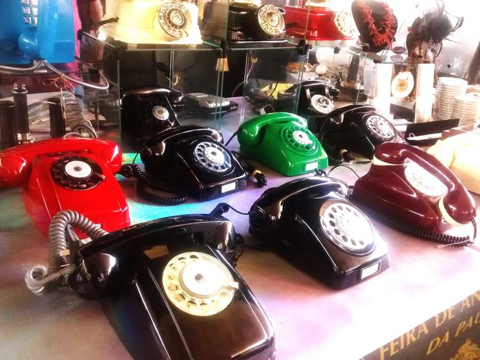 Colors Telephone Old Vintage Fair