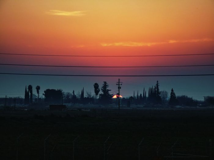 Countryside landscape at sunset