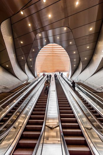 Go to the light EyeEm Best Shots The Week on EyeEm The Architect - 2018 EyeEm Awards EyeEm Gallery EyeEm Selects Eye4photography  EyeEmBestPics Stairs Architecture Indoors  Built Structure Illuminated Transportation Public Transportation The Way Forward Subway Subway Station