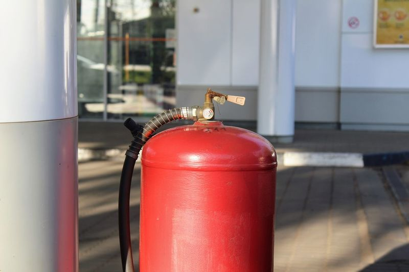 Gas Gas Cylinder Close-up Day Gas Filling Gas Station Gasflasche No People Outdoors Red