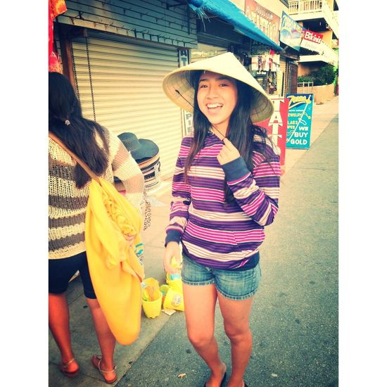 My Asian looking Self ! Asian Eyes Chinese Hat Venice Beach Beach Photography