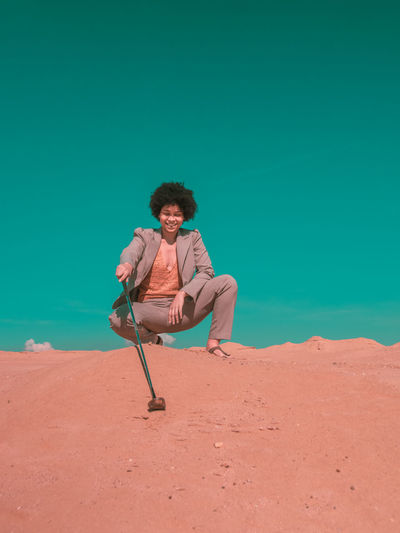 Black Woman in the Desert Desert Women Of Color Black Women Golf Women Androgynous Fashion Model Fashion Photography