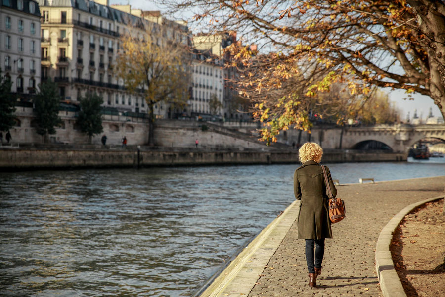 Alone Autumn Autumn Colors Back View Buildings Curly Hair Girl La Seine River Seine Seine River Sunny Day Tree Branches Walking Alone... Women Who Inspire You People And Places Exploring Style Breathing Space Your Ticket To Europe Paint The Town Yellow Been There. Done That. Connected By Travel Fresh On Market 2018 Fashion Stories An Eye For Travel Love Yourself Adventures In The City