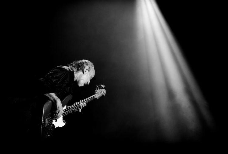 Arts Culture And Entertainment Bass Guitar Blockhead Illuminated Light Lighting Equipment Music Norman Watt-Roy Performance