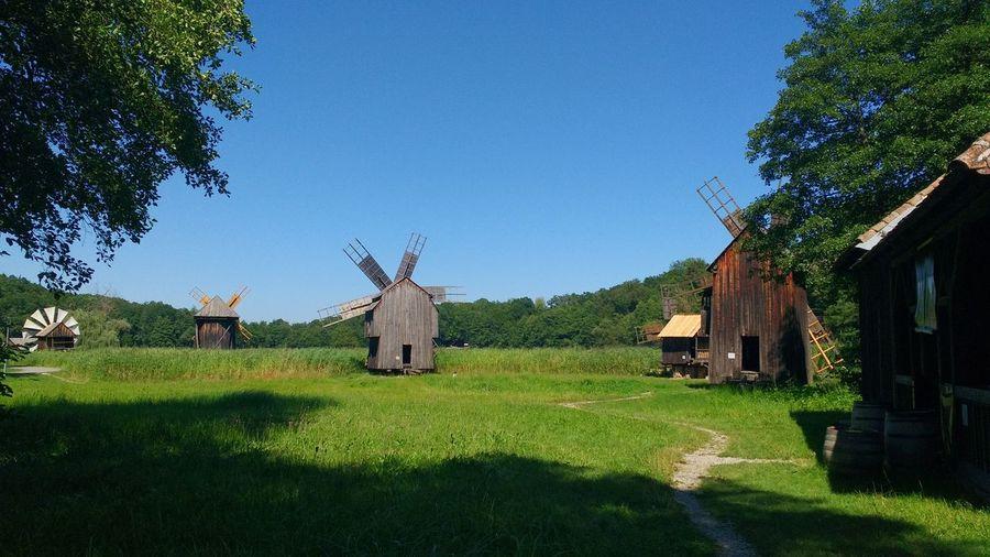 Windmills of astra museum in sibiu, romania