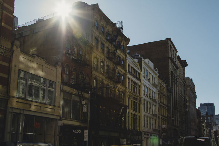 NYC Sunrays Architecture Beam Building Exterior Built Structure City Day Lens Flare No People Outdoors Sky Sunlight