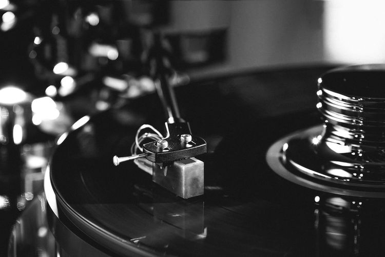 Analogue Sound Close-up Selective Focus Focus On Foreground Indoors  Blackandwhite Black And White Music
