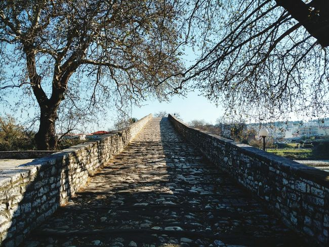 Outdoors Sky Tree The Way Forward No People Day Clear Sky Nature Stone Bridge River Arch Architecture Bridge - Man Made Structure
