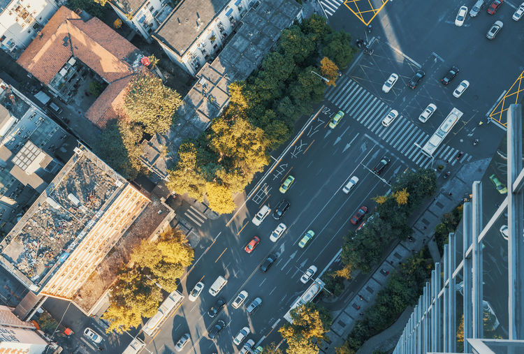 aerial view in chengdu city Transportation Road Architecture City Built Structure Mode Of Transportation Aerial View Street Building Exterior High Angle View City Life Car Sign Motor Vehicle Nature Cityscape No People Day Land Vehicle Traffic Outdoors City Street
