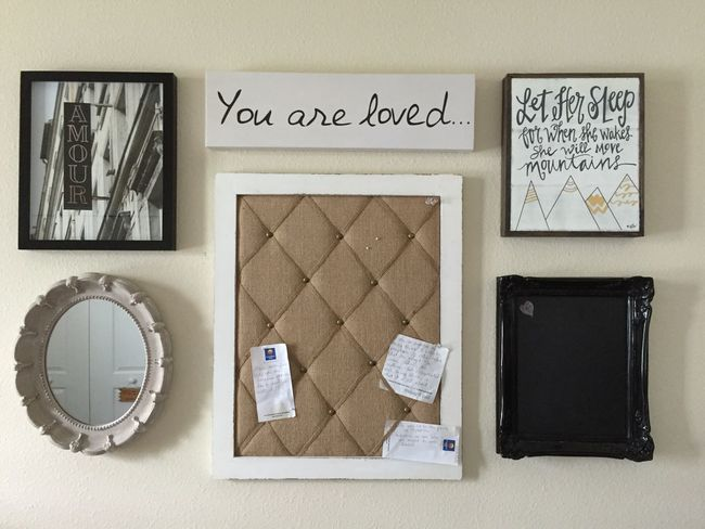 Bulletin Board Chalk Board Close-up Craft Day Home Decor Indoors  No People Paper Picture Frame Room Decor